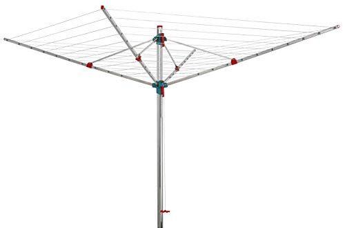 BLOME Waeschespinne Idea mit Schutzhuelle und Eindrehbodenhuelse ca. 60 m 500x330 - BLOME Wäschespinne Idea mit Schutzhülle und Eindrehbodenhülse, ca. 60 m Leinenlänge