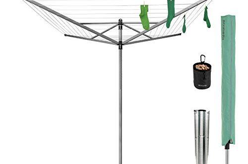 Brabantia Lift O Matic Waeschespinne mit Waescheklammerbeutel Waescheklammern Abdeckung und Erdspiess 500x330 - Brabantia Lift-O-Matic Wäschespinne, mit Wäscheklammerbeutel, Wäscheklammern, Abdeckung und Erdspieß